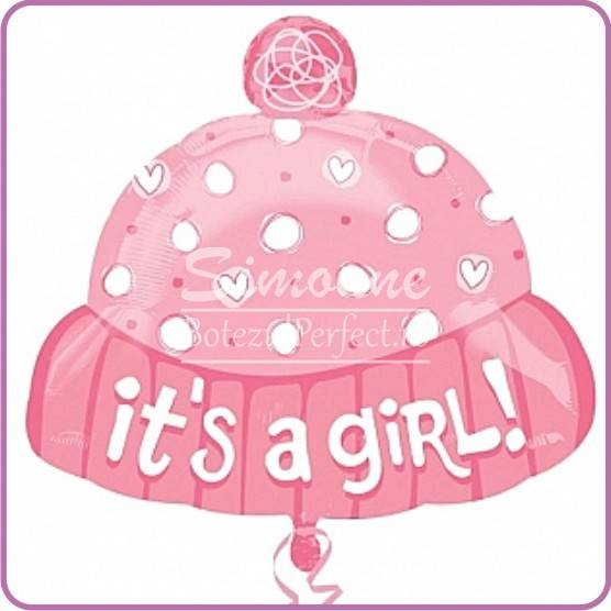 BALON FOLIE METALIZATA ITS A GIRL CACIULITA