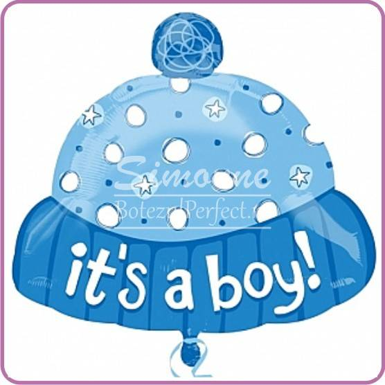 BALON FOLIE METALIZATA IT'S A BOY CACIULITA