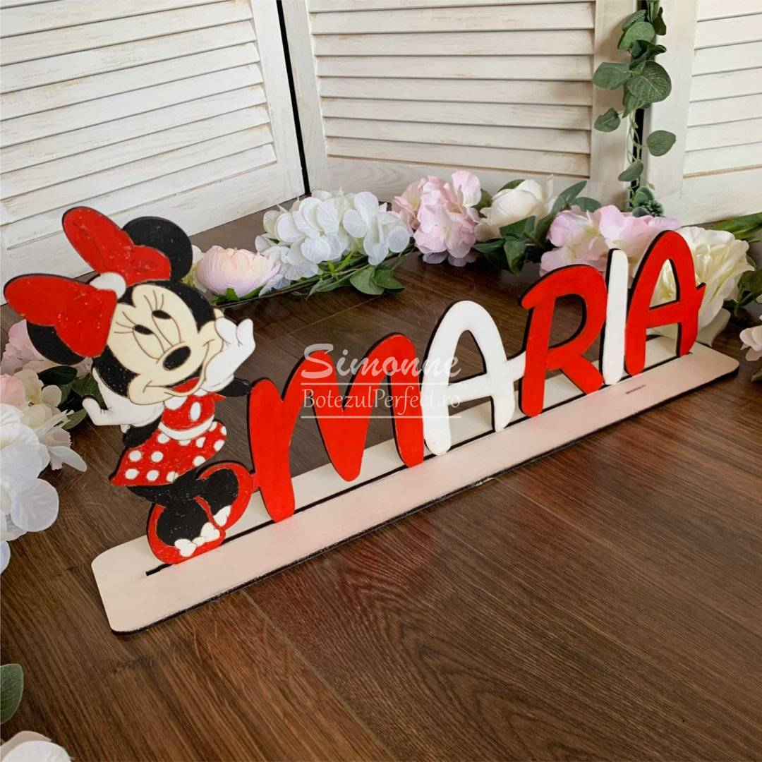 Decoratiune figurina Minnie Mouse personalizata